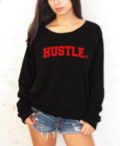 WOMEN SWEATSHIRT-BLACK/RED