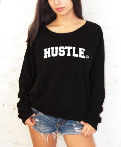 WOMEN SWEATSHIRT-BLACK/WHITE