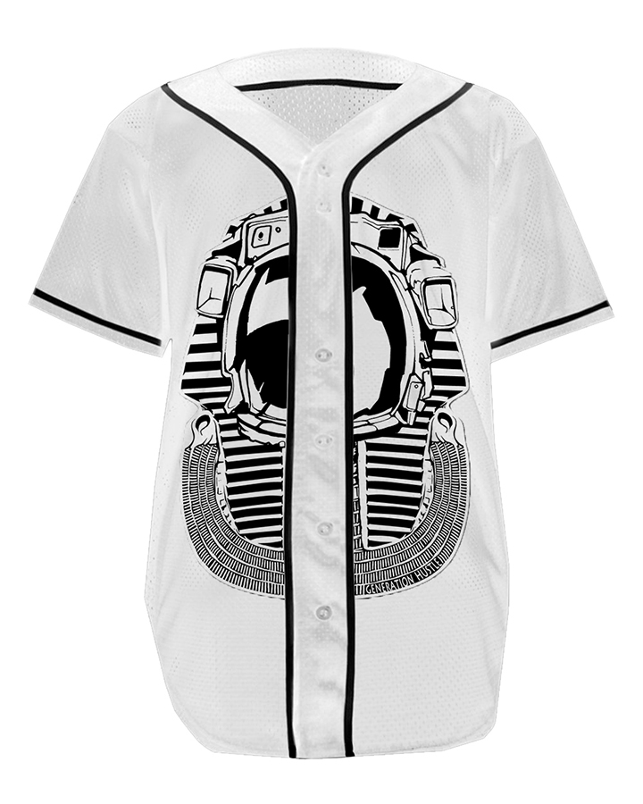 baseball jersey space pharaoh wht